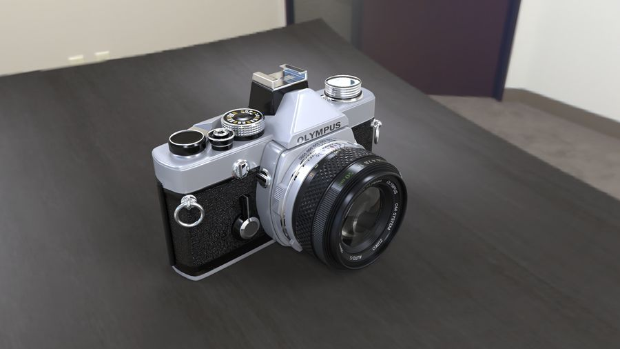 olympus OM1 royalty-free 3d model - Preview no. 1