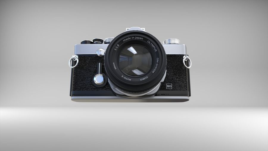 olympus OM1 royalty-free 3d model - Preview no. 6