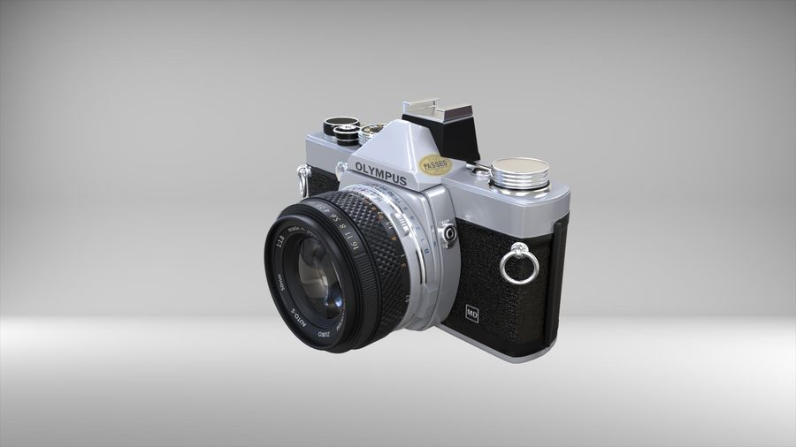 olympus OM1 royalty-free 3d model - Preview no. 3