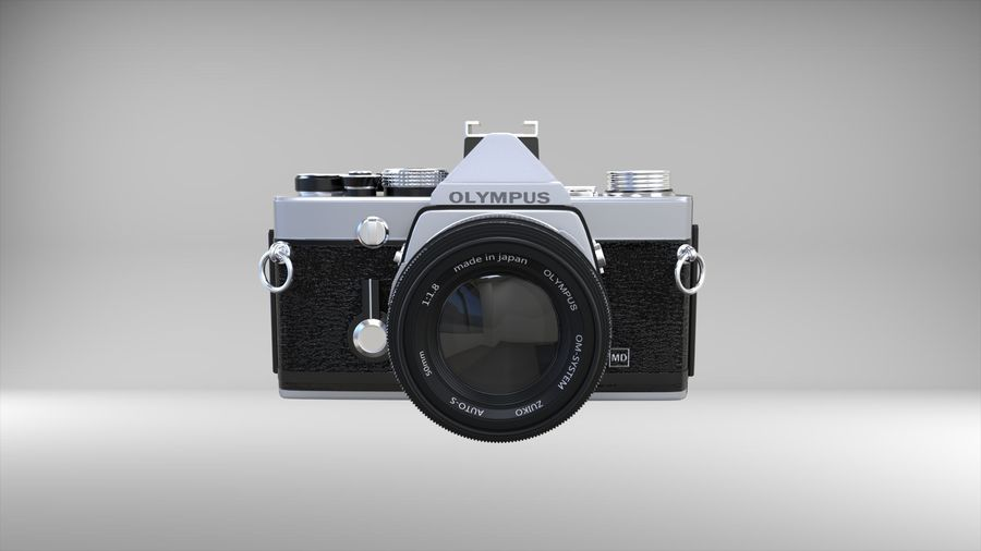 olympus OM1 royalty-free 3d model - Preview no. 5