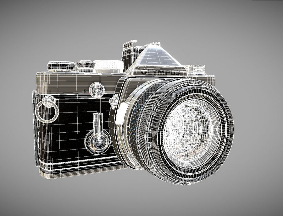 olympus OM1 royalty-free 3d model - Preview no. 2