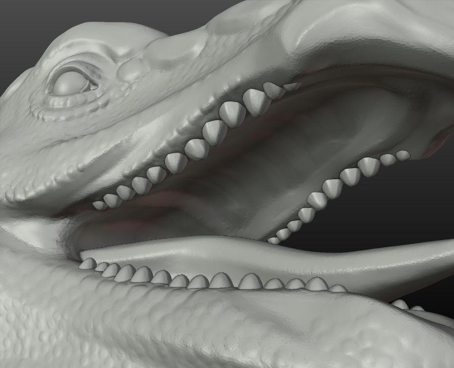 Głowa smoka royalty-free 3d model - Preview no. 10