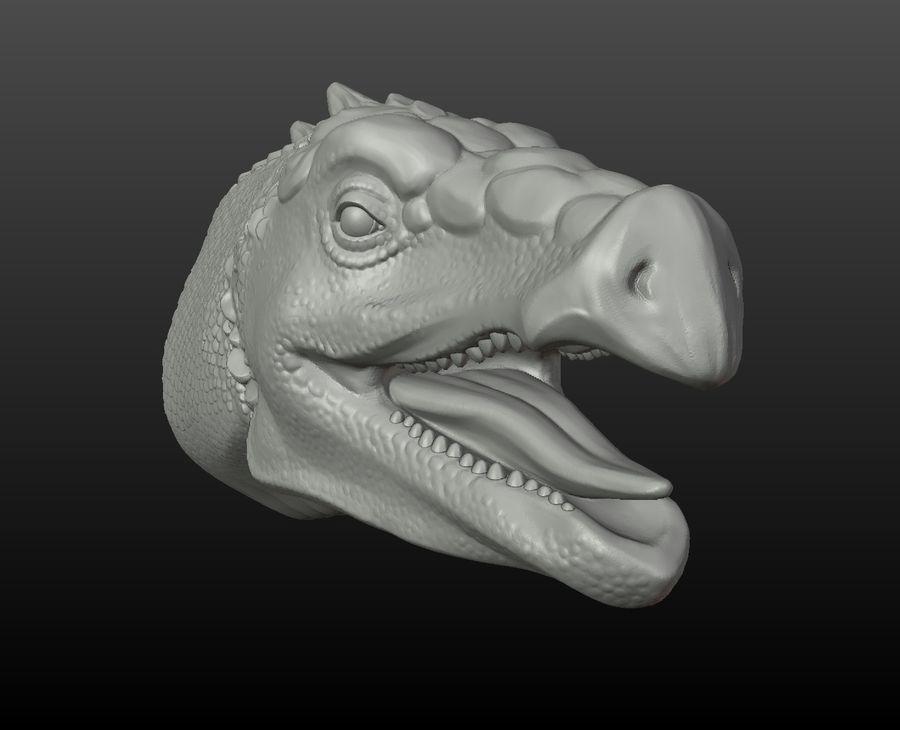 Głowa smoka royalty-free 3d model - Preview no. 6