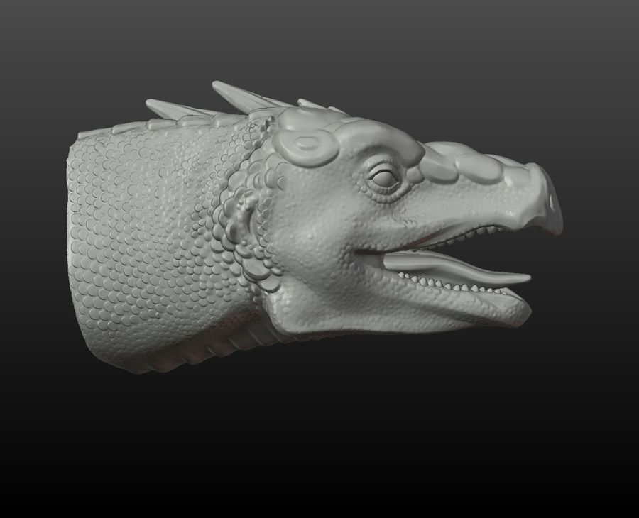 Głowa smoka royalty-free 3d model - Preview no. 8