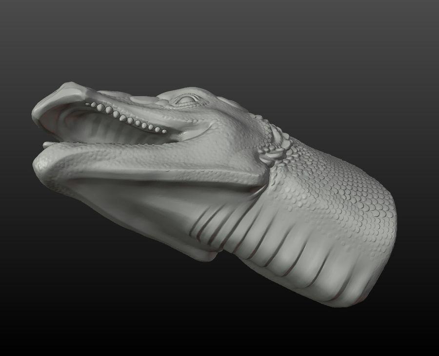 Głowa smoka royalty-free 3d model - Preview no. 7