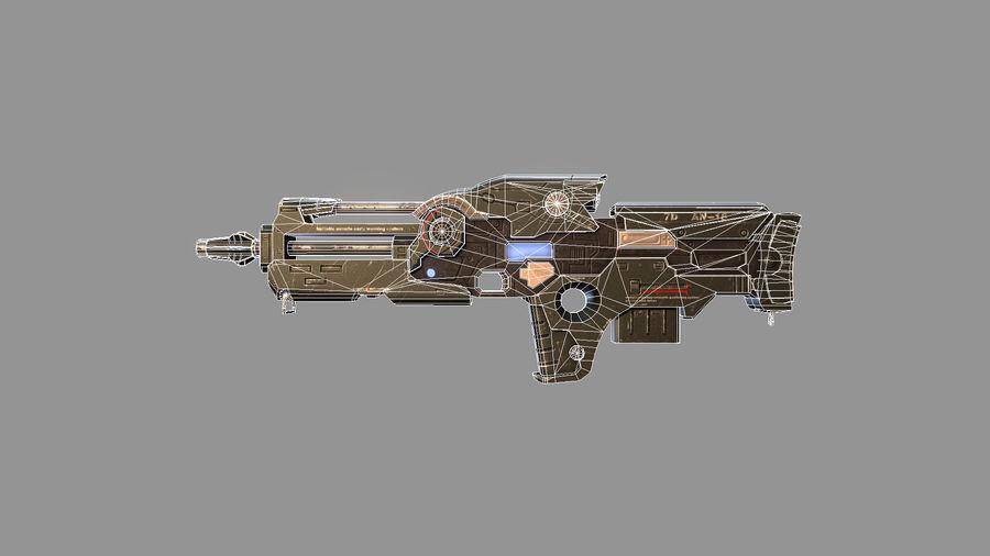 arma arma poderosa royalty-free modelo 3d - Preview no. 4