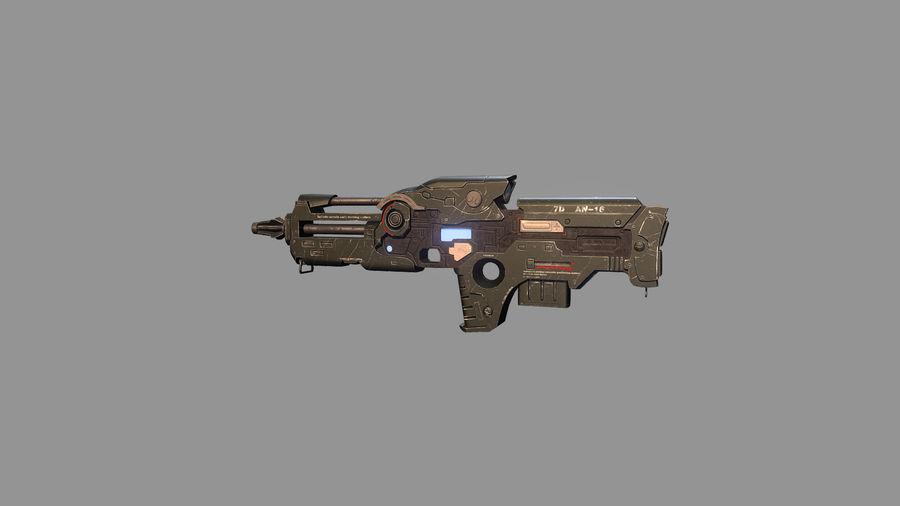 arma arma poderosa royalty-free modelo 3d - Preview no. 2