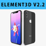 E3D-Apple iPhone X(iPhone 10)太空灰 3d model