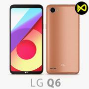 LG Q6 Terra Gold 3d model