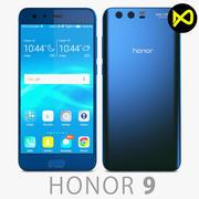 Huawei Honor 9 Blue 3d model