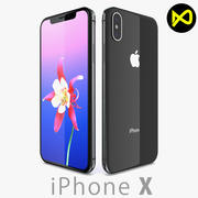 Apple iPhone X ( iPhone 10 ) Space Gray 3d model