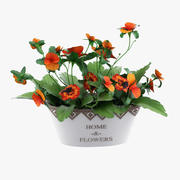 Plante en pot 3d model