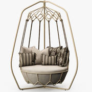 Roberti Rattan - Gravity swing sofa 3d model