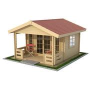 정원 나무 오두막 3d model