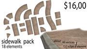 Sidewalk Pack 3d model