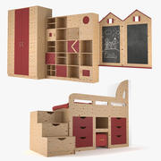 어린이 방 가구 3d model
