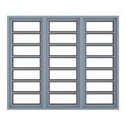金属窗(268 x 200厘米) 3d model