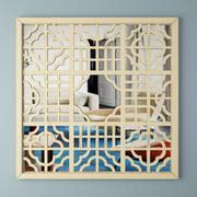 거울 스크린 벽 예술 3d model