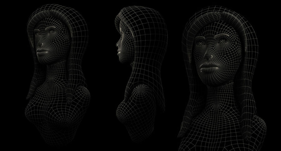 Female Bust royalty-free 3d model - Preview no. 7