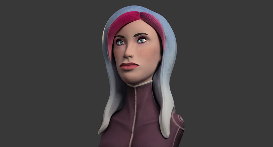 Female Bust royalty-free 3d model - Preview no. 3