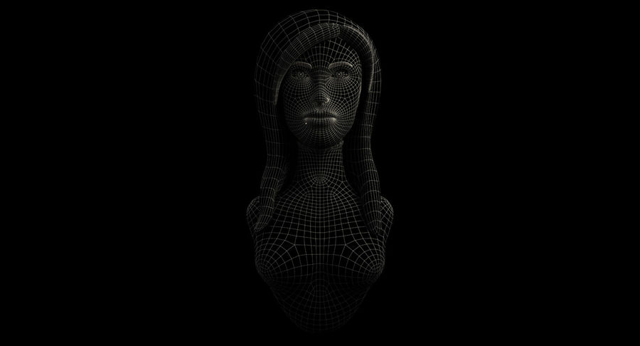 Female Bust royalty-free 3d model - Preview no. 6