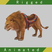 Animação fraudada de leão 3d model