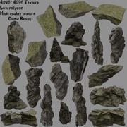leśna skała 3d model