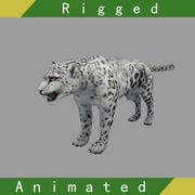 Snow Leopard Rigged Animated 3d model
