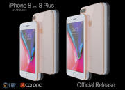 Apple iPhone 8および8 Plusコレクション 3d model