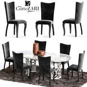 Corte Zari EVA Chair and FLORA Table 3d model
