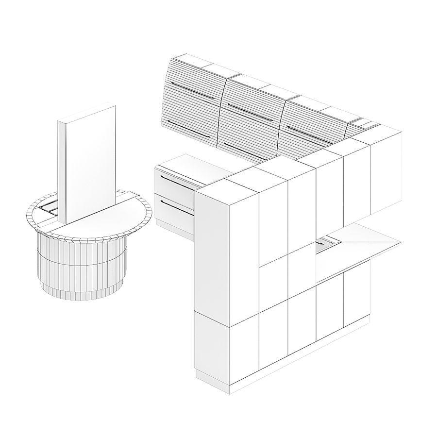 Juego de muebles de cocina 13 royalty-free modelo 3d - Preview no. 4
