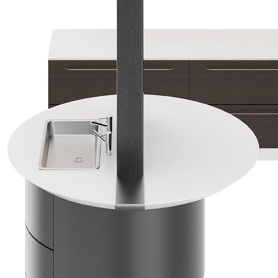 Juego de muebles de cocina 13 royalty-free modelo 3d - Preview no. 5