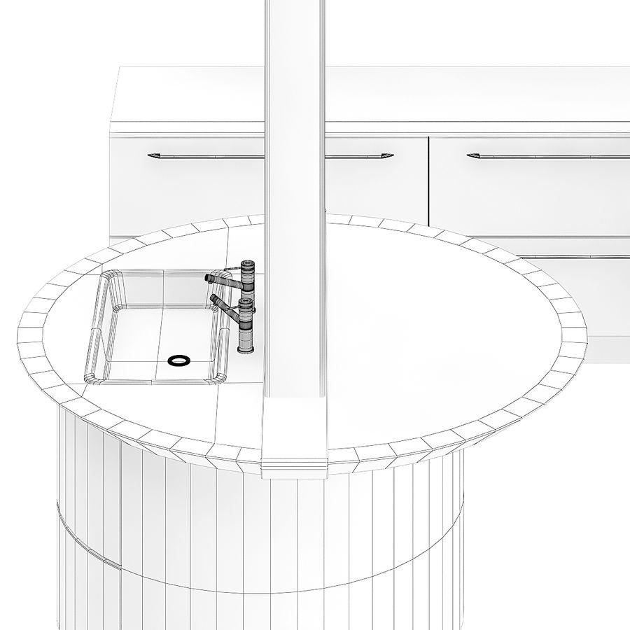 Juego de muebles de cocina 13 royalty-free modelo 3d - Preview no. 6