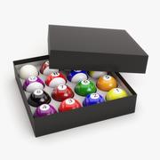 Pool balls in box 3d model