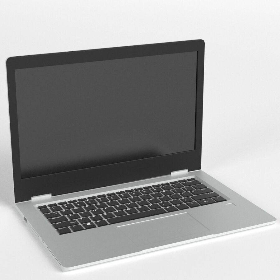Notebook laptop computer royalty-free 3d model - Preview no. 1