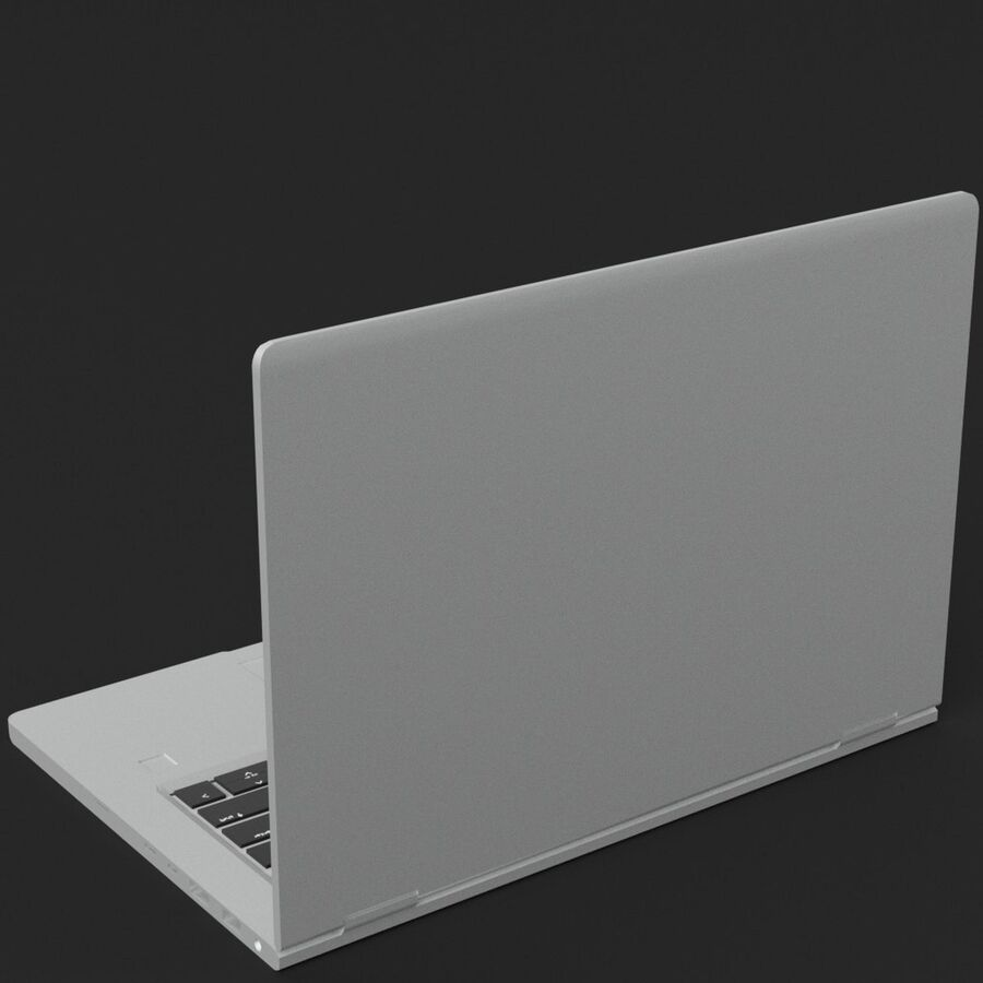 Notebook laptop computer royalty-free 3d model - Preview no. 5
