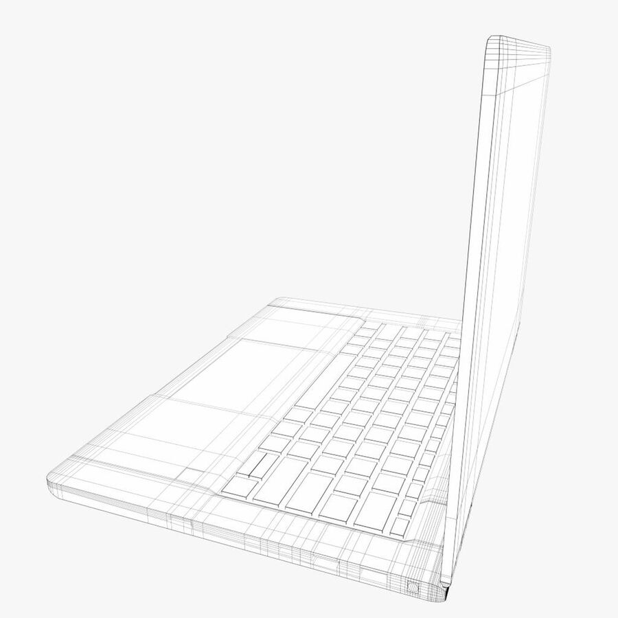 Notebook laptop computer royalty-free 3d model - Preview no. 8