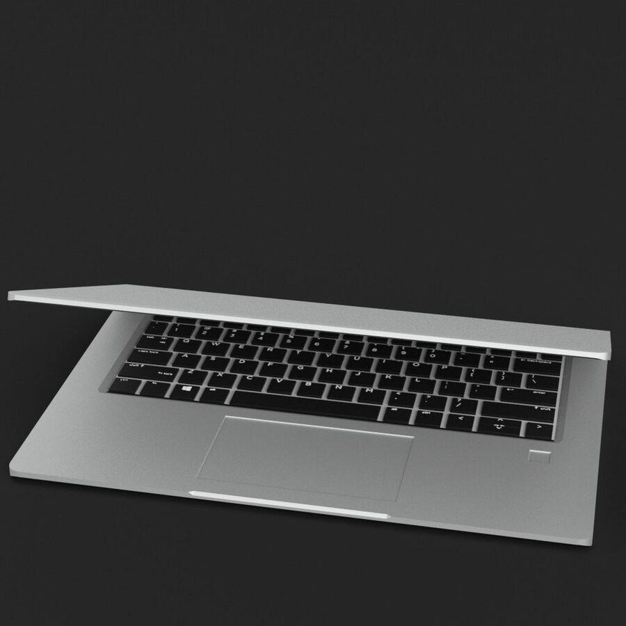 Notebook laptop computer royalty-free 3d model - Preview no. 2