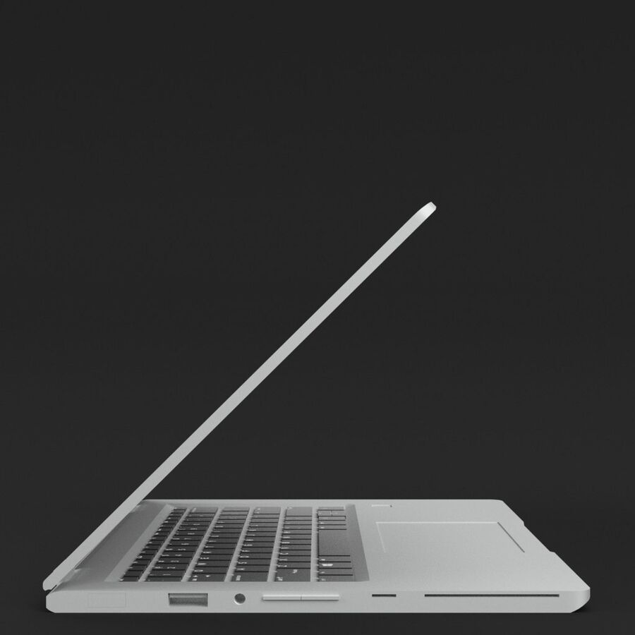 Notebook laptop computer royalty-free 3d model - Preview no. 4