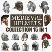 Collezione di modelli 3D di elmi medievali 3d model