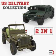 미군 바퀴 달린 차량 컬렉션 3d model