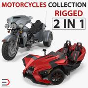 Rigged Trike Motorcyklar 3D Models Collection 3d model
