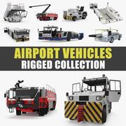 Коллекция грузовых автомобилей для аэропортов (1) 3d model