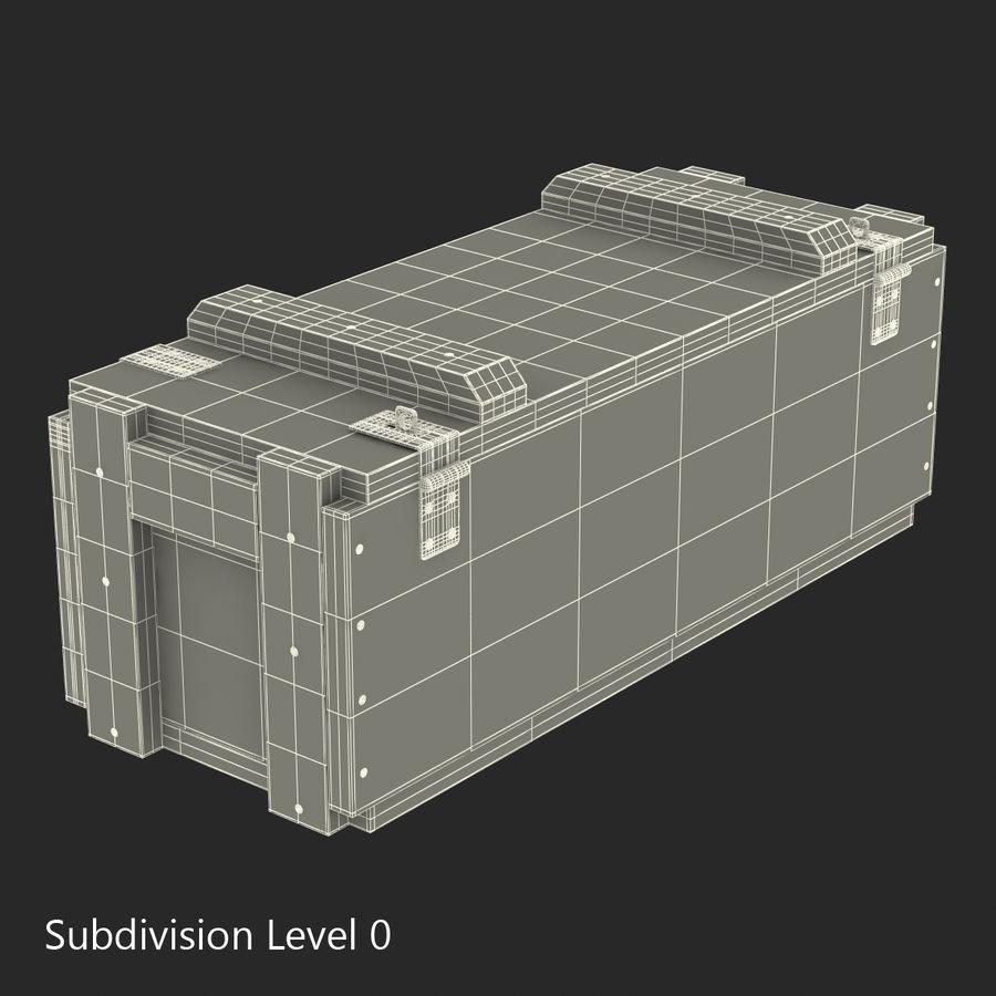 軍用弾薬箱コレクション royalty-free 3d model - Preview no. 33