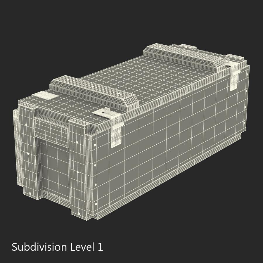 軍用弾薬箱コレクション royalty-free 3d model - Preview no. 34