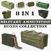 Коллекция военных ящиков для боеприпасов 3d model