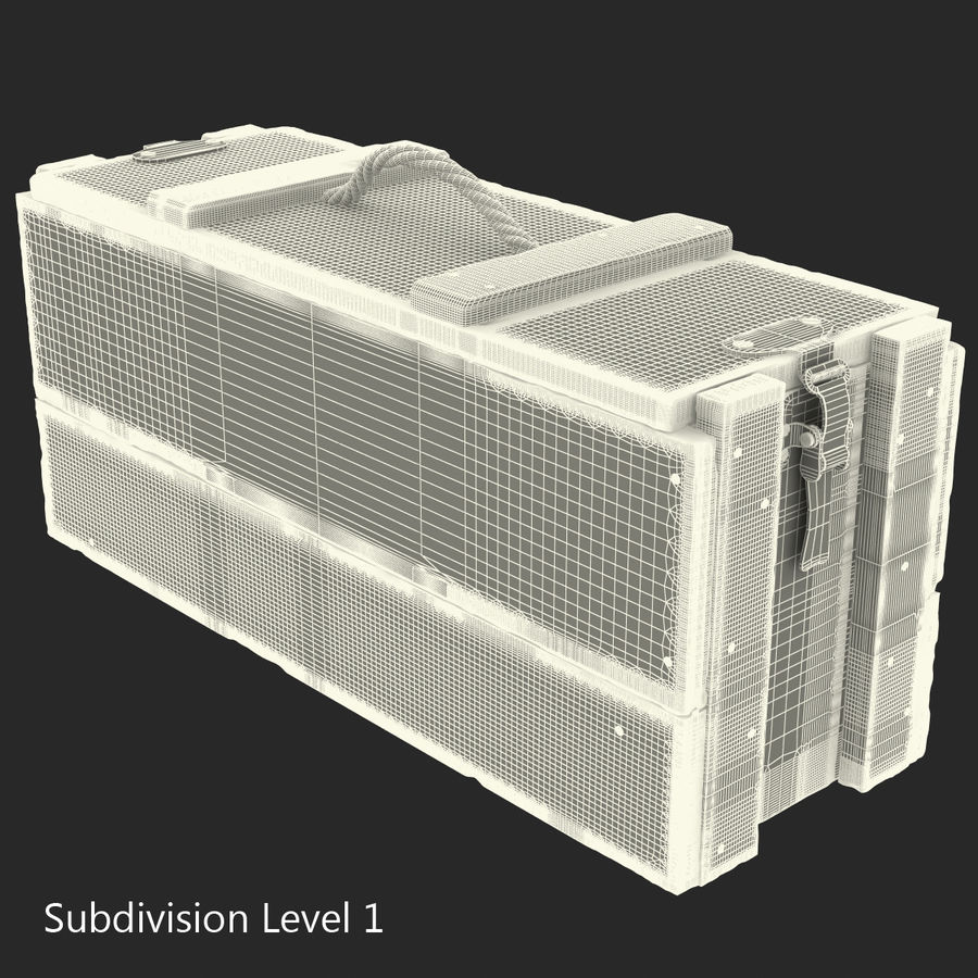 軍用弾薬箱コレクション royalty-free 3d model - Preview no. 38