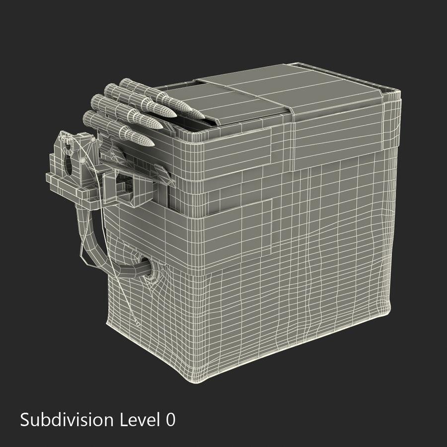 軍用弾薬箱コレクション royalty-free 3d model - Preview no. 29
