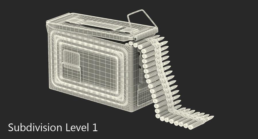 軍用弾薬箱コレクション royalty-free 3d model - Preview no. 26