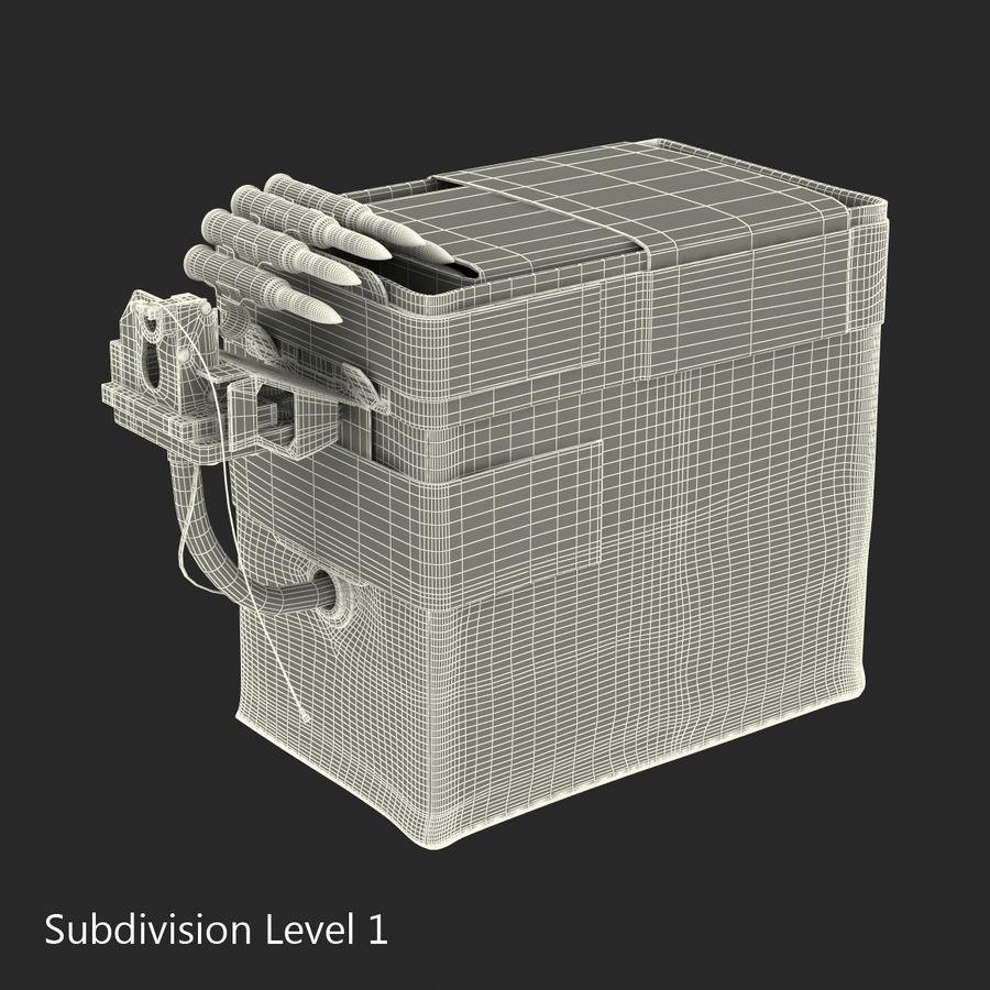 軍用弾薬箱コレクション royalty-free 3d model - Preview no. 30